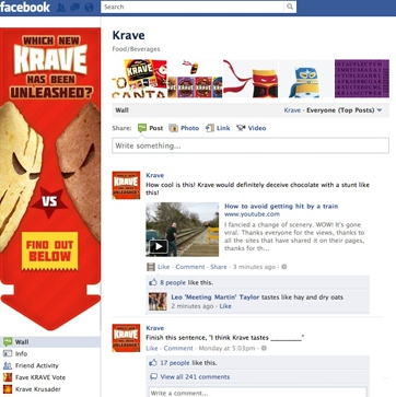 Krave Facebook page