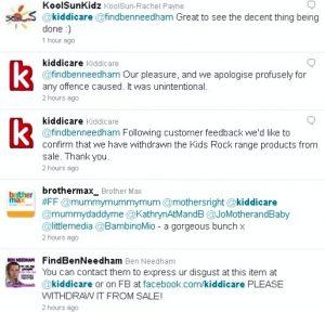 Kiddicare response to tweets