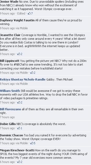 NBC Facebook response
