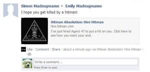 Hitman Facebook Post