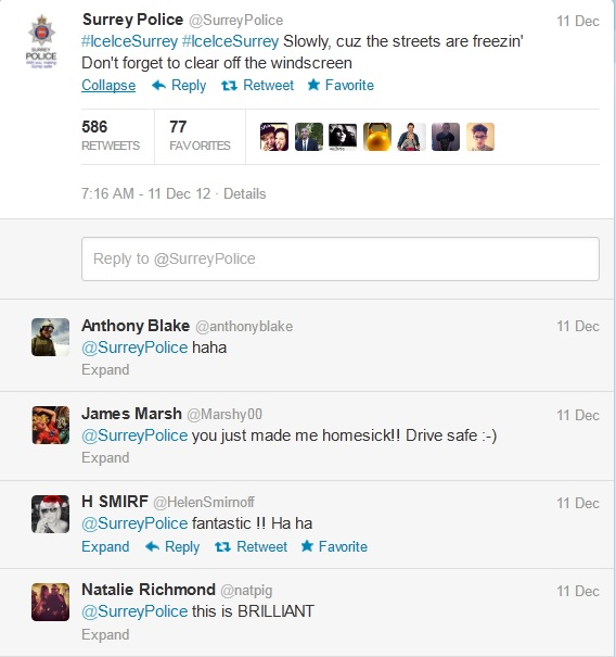 Surrey Police Tweets
