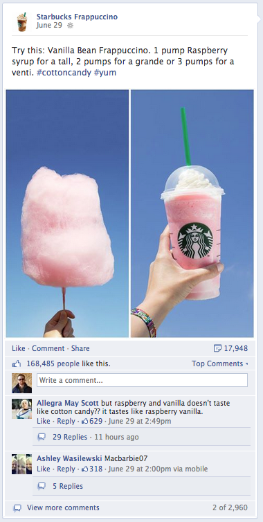 Starbucks Frappuccino CottonCandy